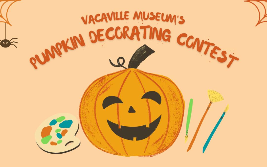 Pumpkin Decorating Contest – October 23, 2021