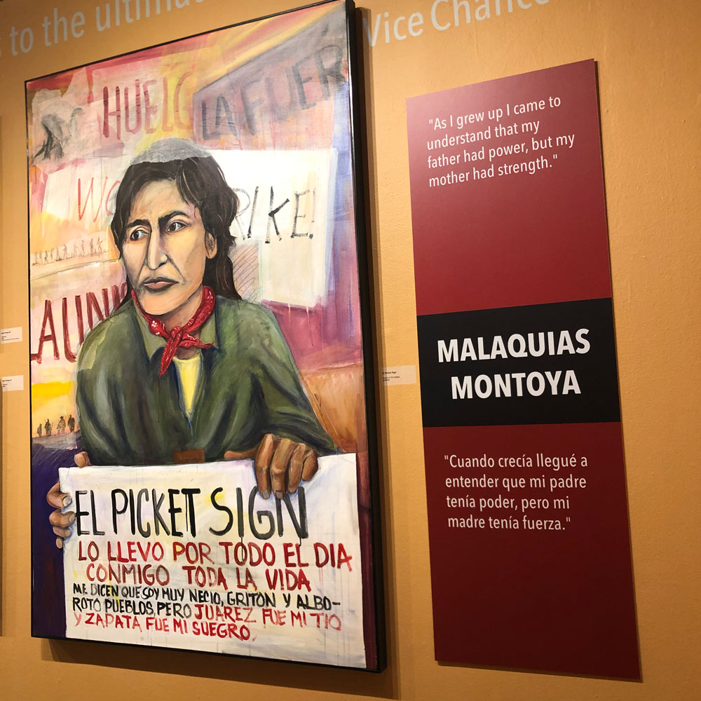 Vacaville Museum Exhibit Malaquias-Montoya